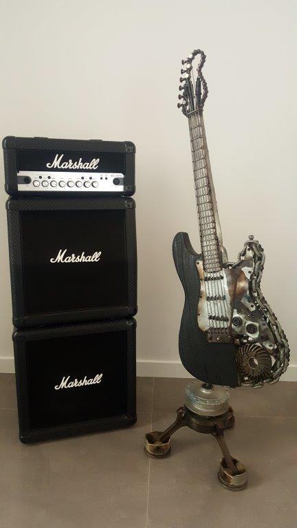 welded metal guitar sculptures by brisbane 3d artist paul. Black Bedroom Furniture Sets. Home Design Ideas